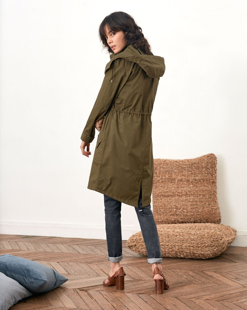 Parka with detachable hood and lining Dark kaki Fawzia