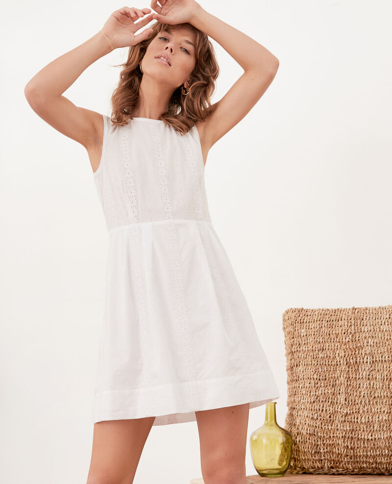 Embroidered dress Blanc Fauteuil
