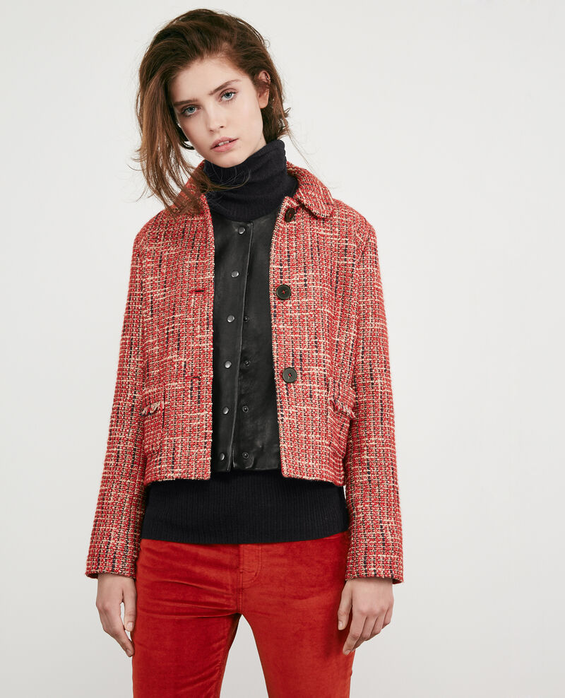 Tweed jacket ORANGE RED