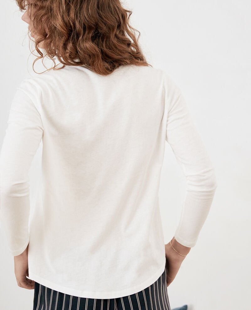 Bimaterial T-shirt Off white Farly