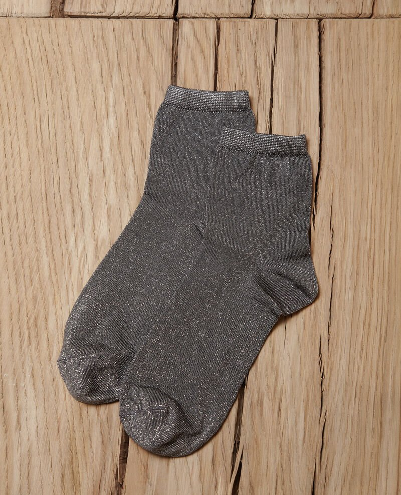 Lurex blend socks MEDIUM HEATHER GREY