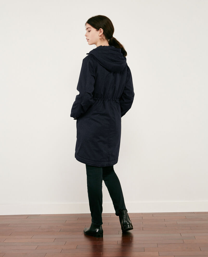 Long parka Navy Danessa