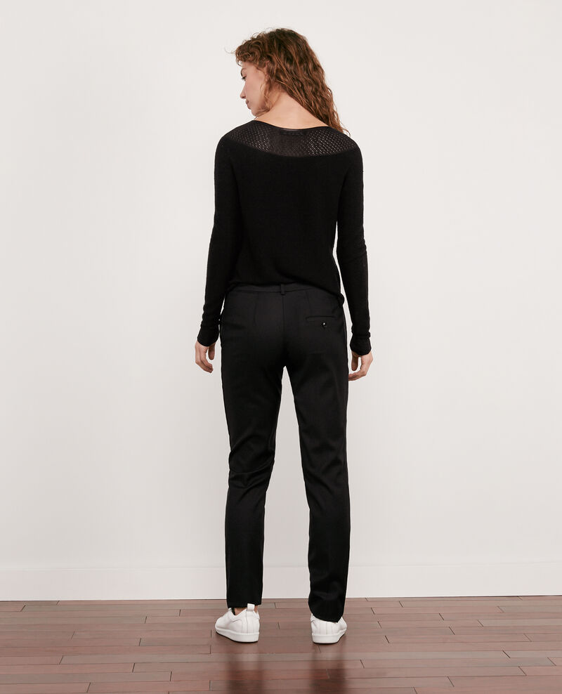 100% wool smart trousers Noir Dari