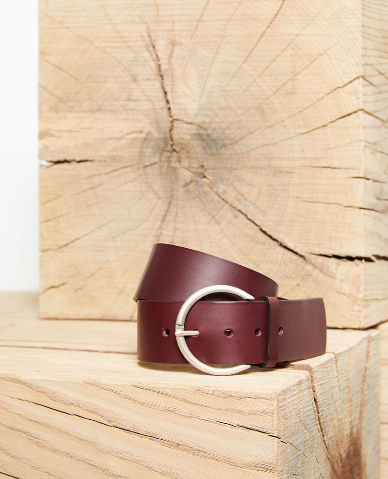 Leather belt Decadente chocolate Garge