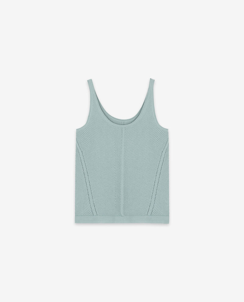 Knitted vest top Ice Dalhia