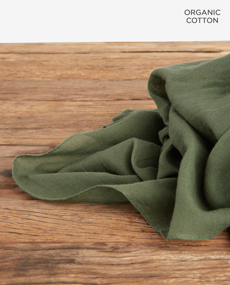 Cotton scarf Laurel green Forga