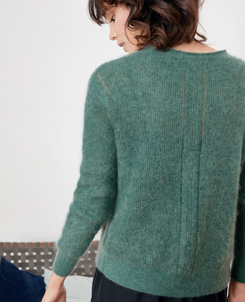 Cardigan with mohair Peppermint Frisquette