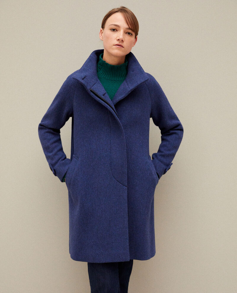 Coat with stand-up collar Peacoat Goyave