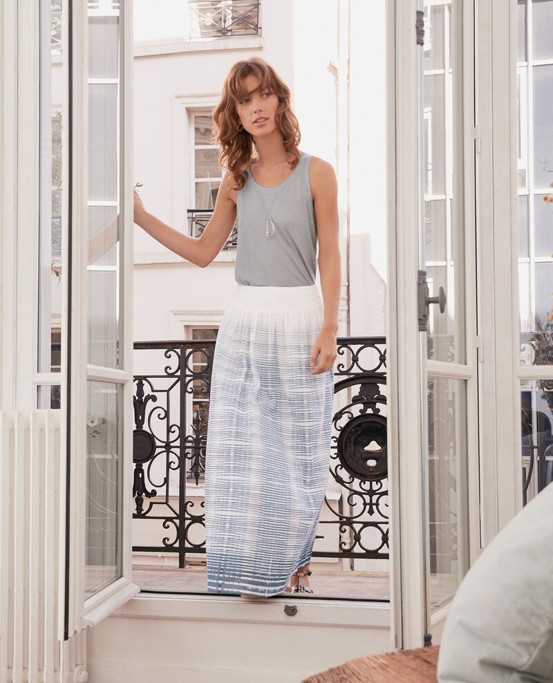Maxi skirt Tie&dye washed blue Francky