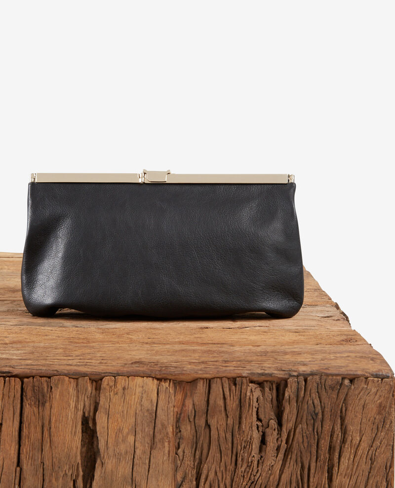 Leather clutch bag Noir Fetiche