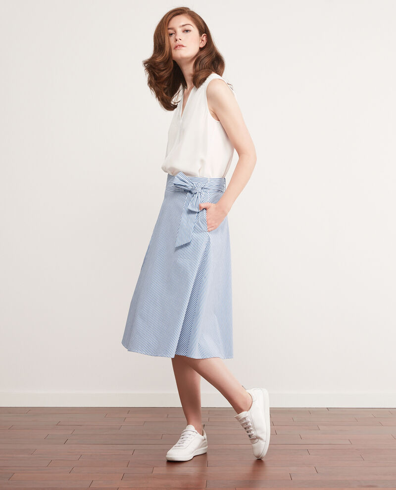 Striped midi skirt Indigo/white Camelia
