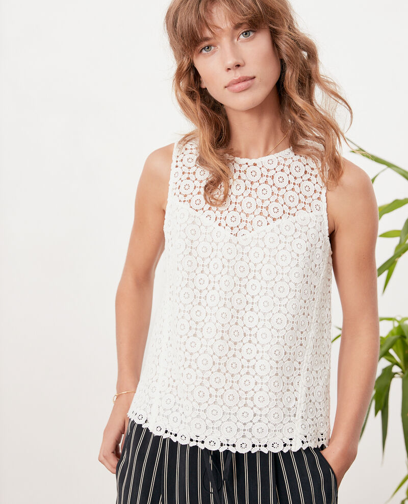 Broderie anglaise top Off white Foulouse