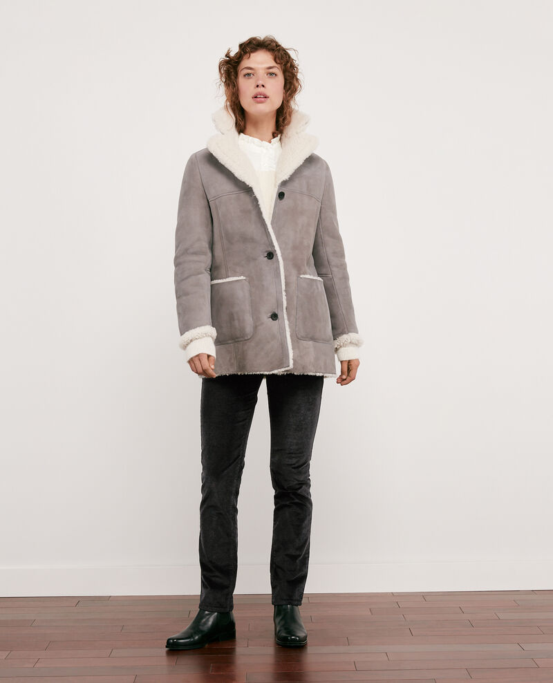 Sheepskin coat Light grey Dolotto