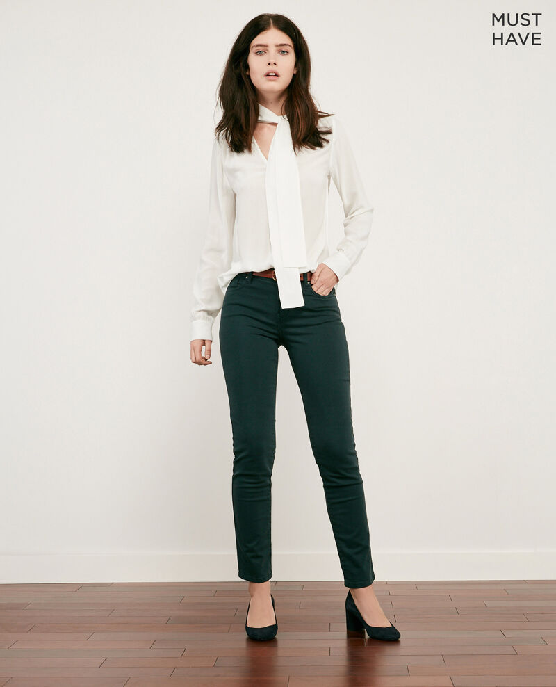 Soft touch cigarette fit jeans DEEP GREEN