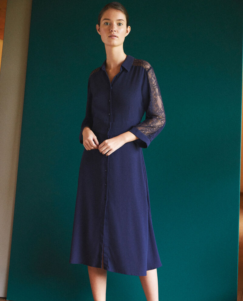 Dress with lace Marine Forte