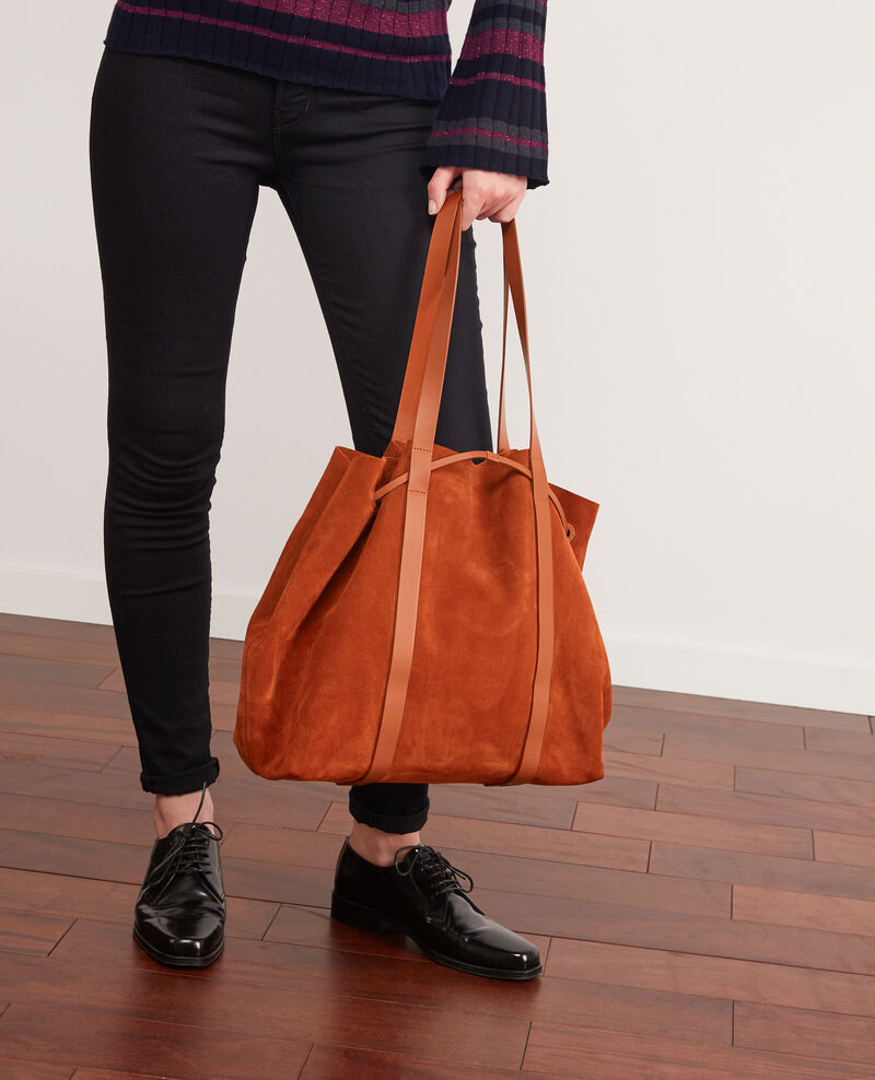 Leather blend shopper Rust Debut