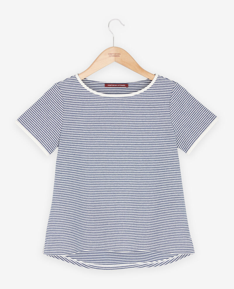 Striped T-shirt Kaolin/indigo Franz