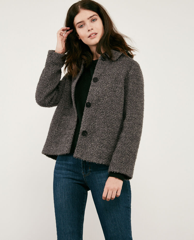 Wool blend jacket Dark grey Dayonne