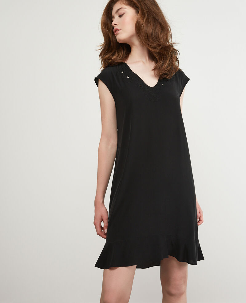 Silk dress Noir Dalienor