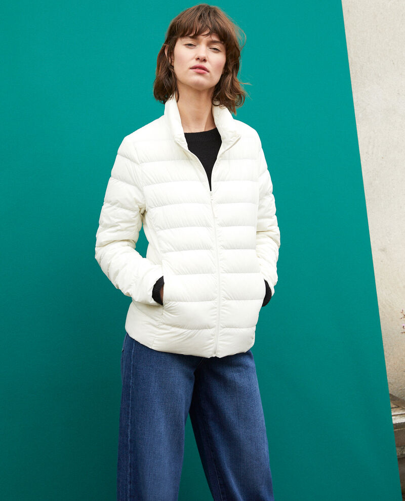 Ultra-light padded jacket with stand-up collar Off white Fuldown