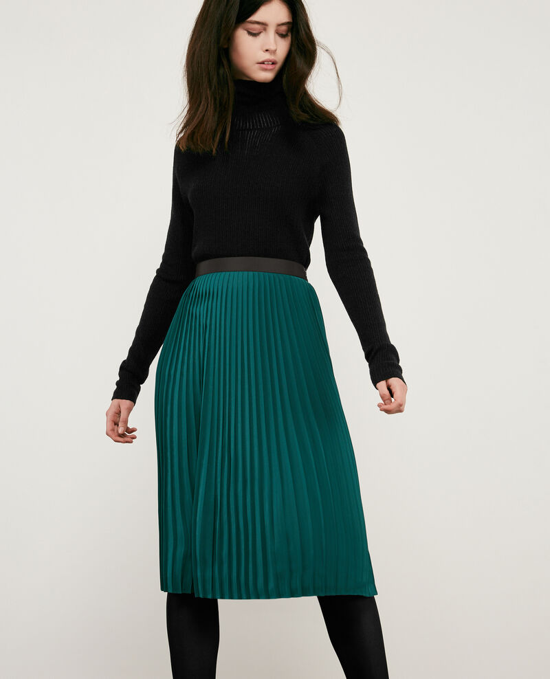 Pleated skirt Light deep green Dallerine