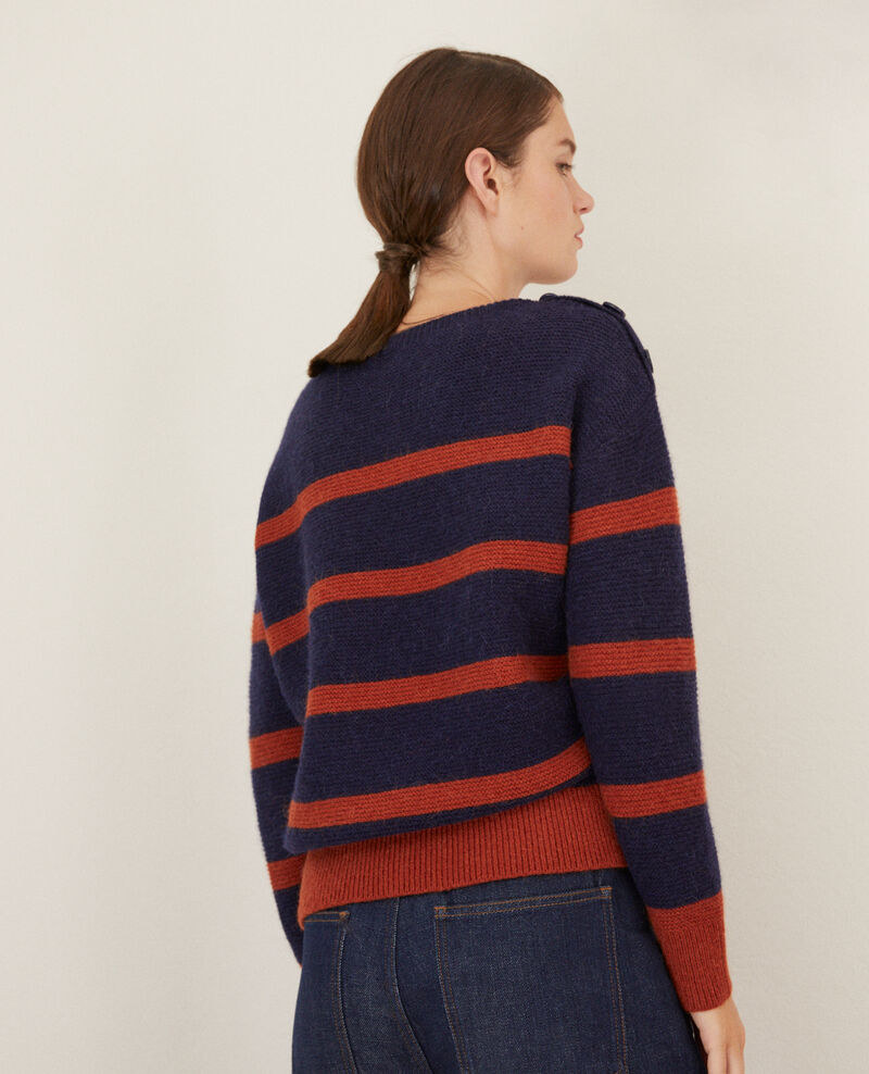 Boat neck jumper Peacoat/picante Gipsy