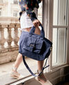 Heavy duty canvas bag Indigo Fanmini