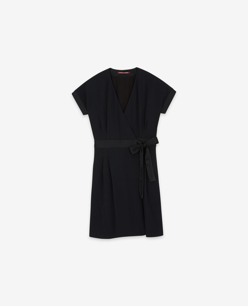 Wrapover dress Noir Dannecha