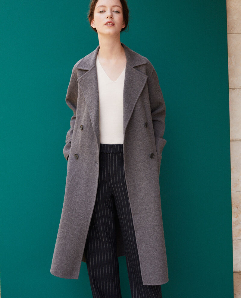 Double-sided coat DARK HEATHER GREY