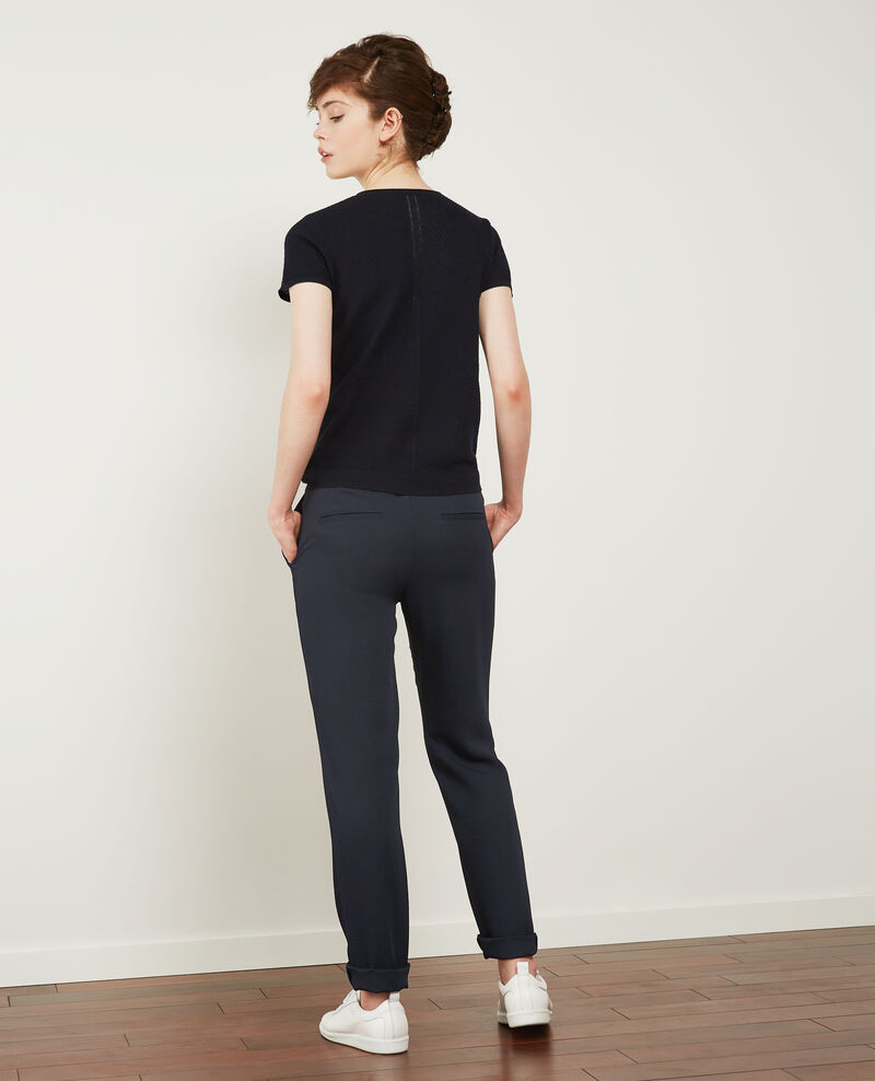 Crepe trousers Navy Detampe