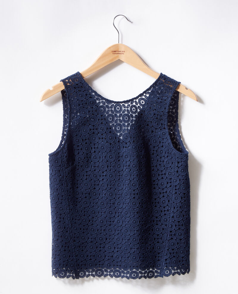 Broderie anglaise top NAVY