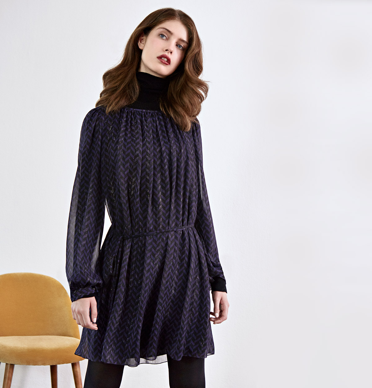 Look - Lightweight dress, Merinojumper