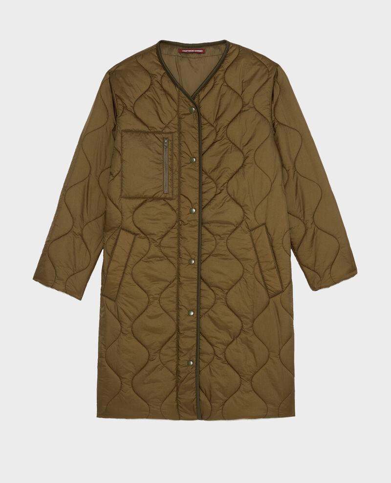 V-neck down coat  Military green Matoury