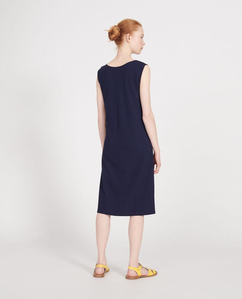 Cotton dress Maritime blue Liesse