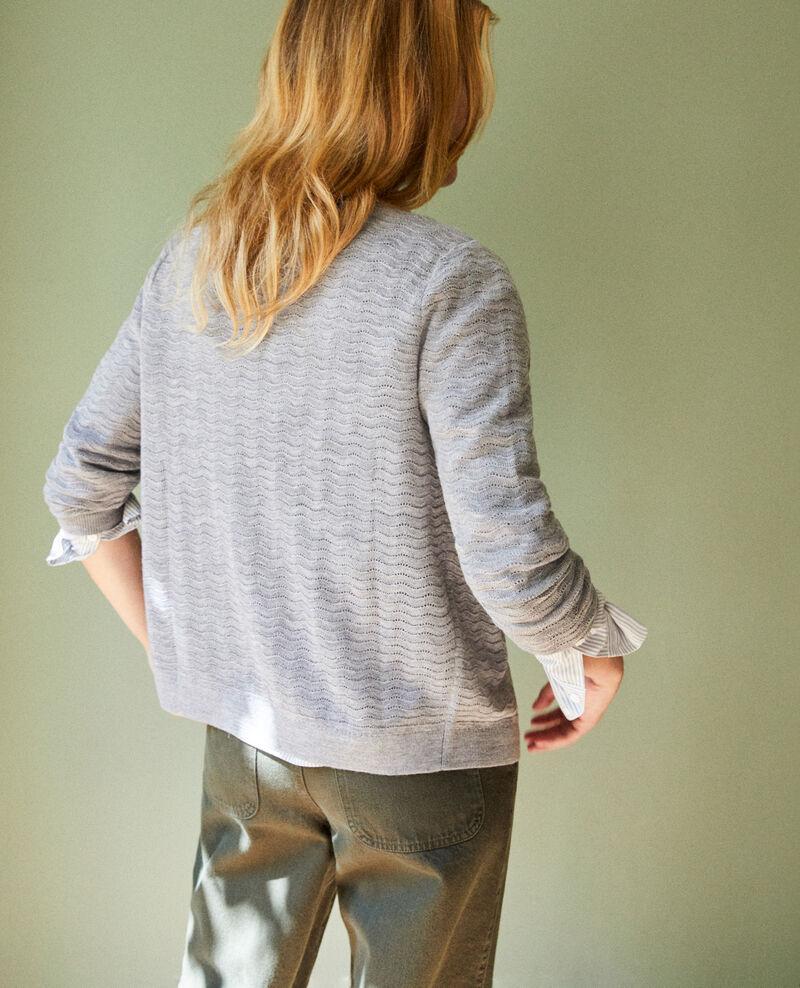 Cardigan 100% Merino Wool Medium grey Jemuel