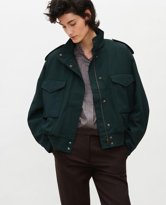 Wool gabardine aviator jacket SCARAB