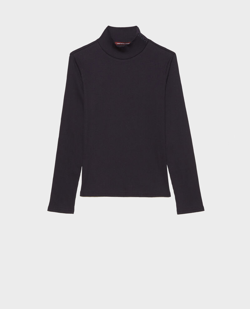 Long-sleeve stretch cotton jumper Night sky Marval