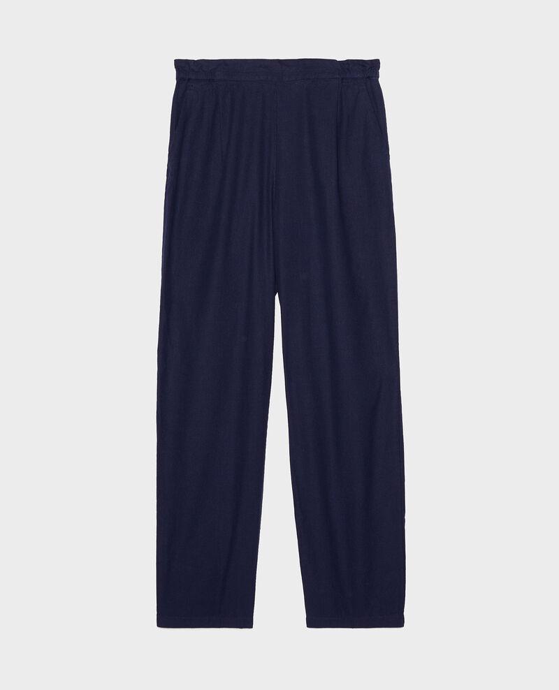 Linen and cotton trousers Maritime blue Loranki