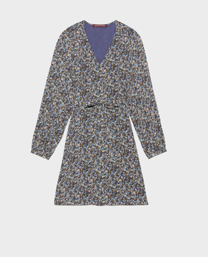Silk mini dress Liberty green Pavishy