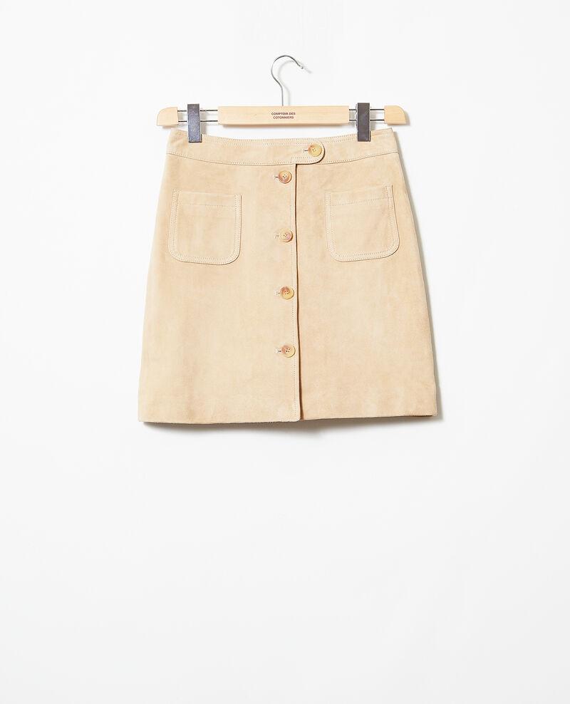 Suede mini skirt Camel beige Icate