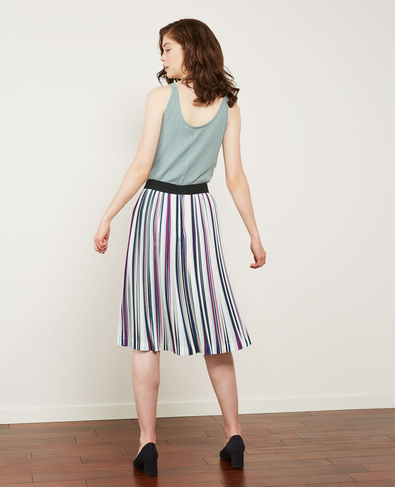 Pleated skirt Peony/deep sea Deleta