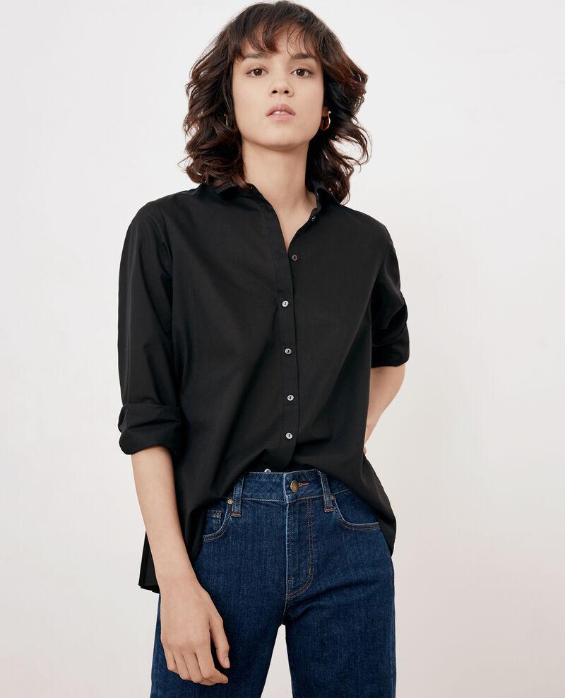 Shirt with pleated back Noir Fratrie