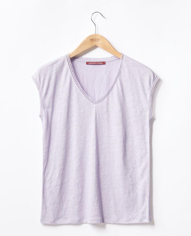 Linen T-shirt Light iris Fevian
