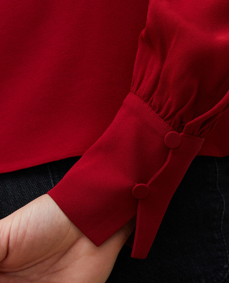 Slim fit V neck blouse  Royale red Marguerin