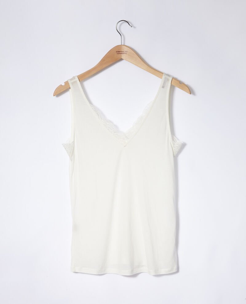 Vest top with lace Off white Jaia