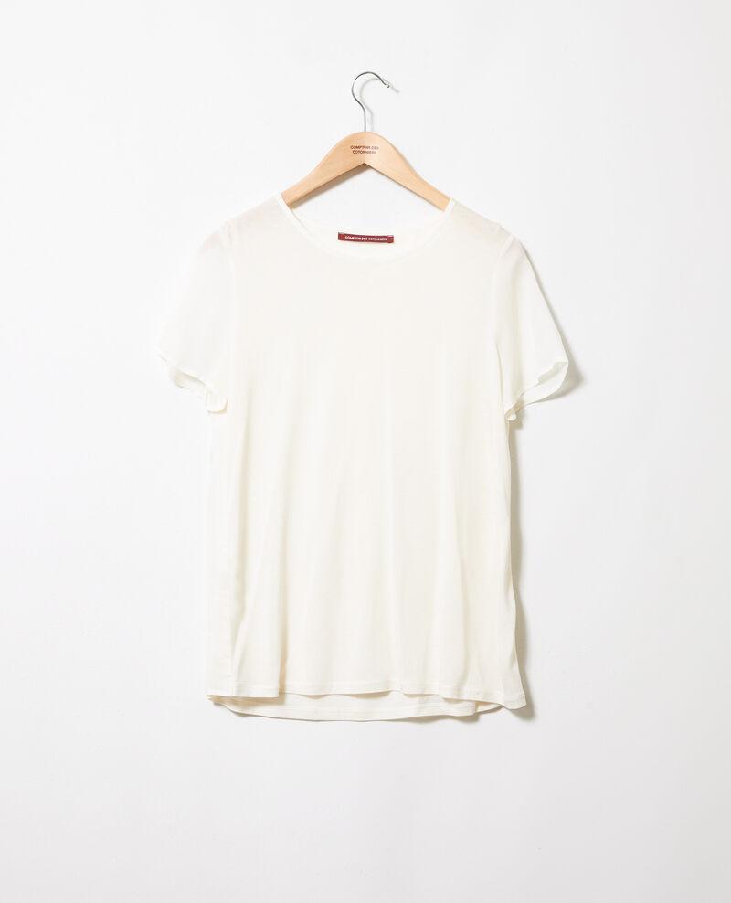 Bimaterial T-shirt Off white Jabelle