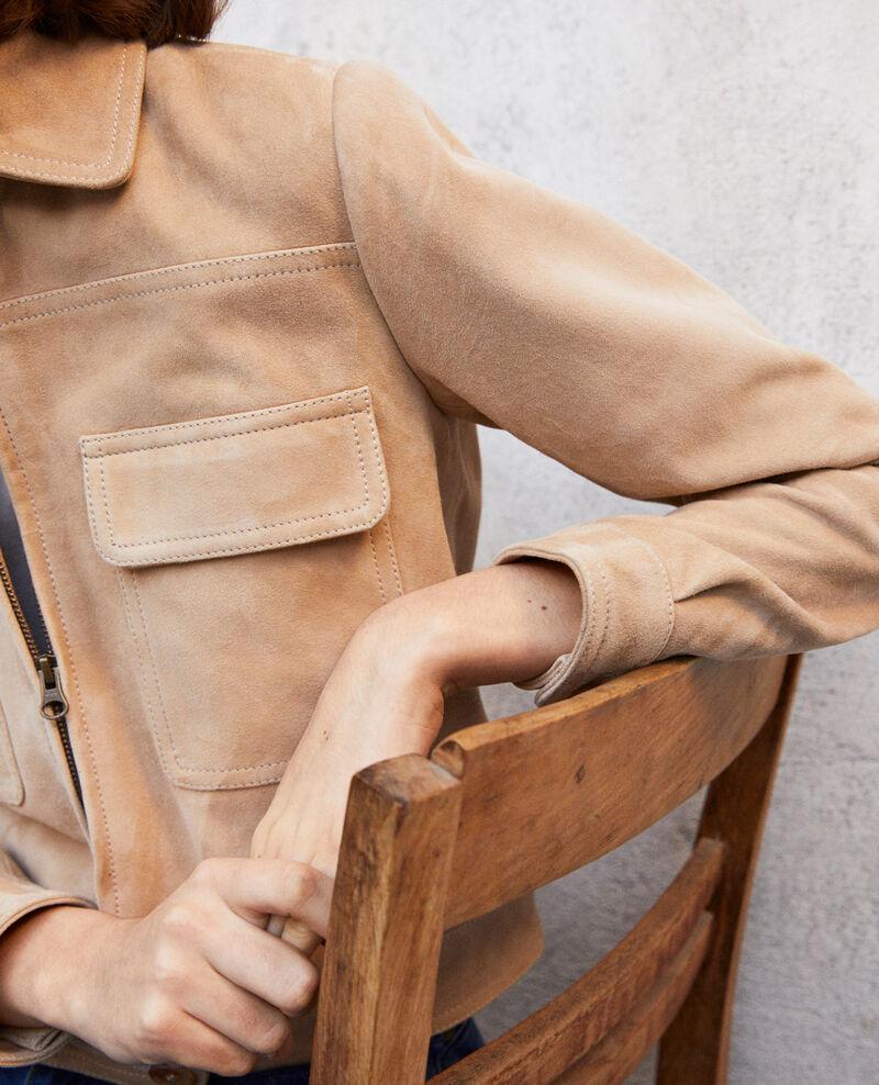 Short suede jacket Beige Irmelle