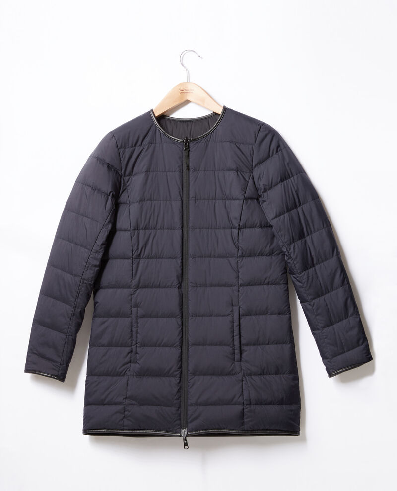 Mid-length reversible padded jacket Black Dilong