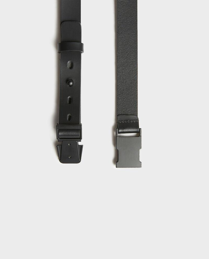 Leather belt Black beauty Lequipe
