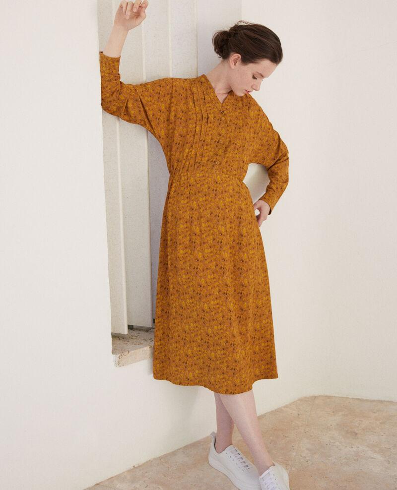 Printed dress Ld golden spice Geviana